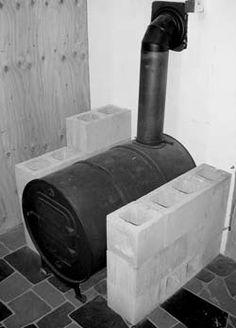 Cheap barrel wood stove.