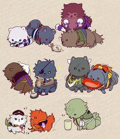 埋め込み画像 Touken Ranbu, Anime Wolf, Manga Anime, Natsume And Mikan, Nikkari Aoe, Chibi Characters, I Love Anime, Creative Art, Sword