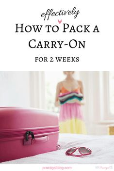 Learn how to pack a carry-on bag for 2 weeks and get my carry-on packing list to easily pack light for your next trip. Carry-on only travel plus a large bag or backpack as your personal item allows you to pack light for vacation. Use my carry-on travel tips and hacks to fit as much as you need in your carry-on, including clothes and toiletries. With simple carry-on bag essentials, you can travel light with one suitcase for two weeks. Get my free printable carry-on only packing list. #...
