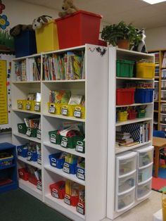 Love this shelving idea! Wish I had something like this in my classroom!