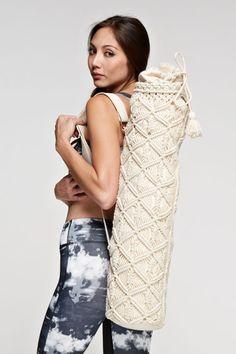 Yoga Bag Macramé retro yoga bag with tassel closure. SHELL: 100% COTTON, LINING: 100% POLYESTER