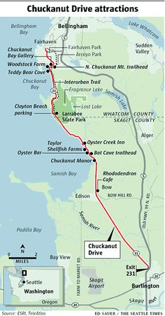 mile-by-mile guide to chuckanut drive in nw washington