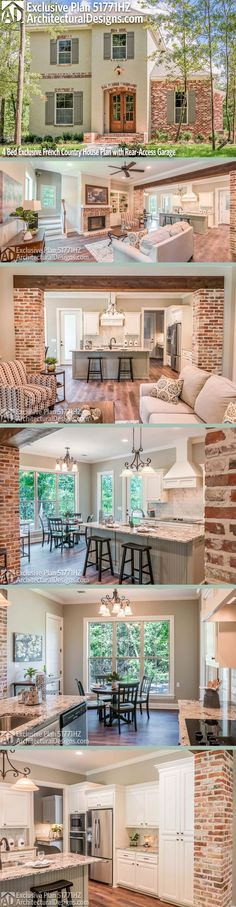 I like the wood floors, exposed brick, and exposed beams,