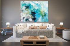 Items similar to Large Modern Wall Art Painting,Large Abstract wall art,texture art painting,colorful abstract,office wall art on Etsy Oversized Wall Decor, Oversized Canvas Art, Large Abstract Wall Art, Colorful Wall Art, Modern Oil Painting, Large Painting, Painting Art, Bright Paintings, Abstract Paintings