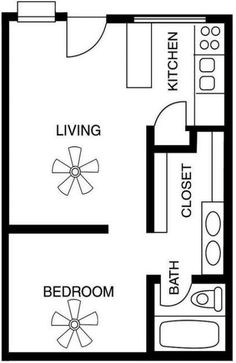 Studio Layout Floor Plans Tiny Ideas Apartment Studio Layout Floor Plans Tiny Ideas Cottage Country Ranch Traditional Level One of Plan 68572 555 Eastbay Crawl – Study Set 2 Bedroom Apartment Floor Plan, Studio Apartment Floor Plans, Studio Floor Plans, Bedroom Floor Plans, Apartment Design, House Floor Plans, Apartment Living, Studio Apartments, Small Apartment Plans