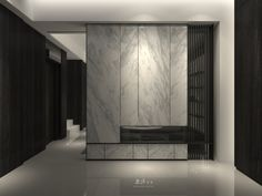 Is Paneling Walls good for Home Improvement? Home Interior, Interior Design Living Room, Interior Doors, Feature Wall Design, Shelving Design, Hallway Designs, Partition Design, Lobby Design, Transitional Living Rooms