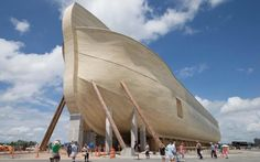A biblical theme park in the US state of Kentucky opens tomorrow July), with a full-size recreation of Noah's Ark at its heart. The Ark Encounter explores the famous . Bbc News, Bill Nye Science Guy, Young Earth Creationism, The Ark Encounter, Noahs Ark Theme, Flood Damage, Public School, Evolution, At Least