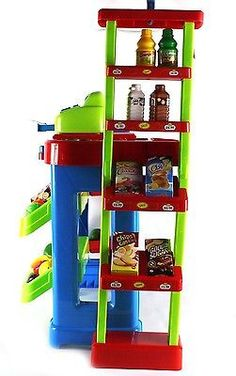 Kids Pretend Play Grocery Store Cash Register Shopping Cart Educational Toy