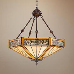 Stratford 3-Light Mission Tiffany Pendant Light for dining room