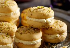 Have a melt-in-your-mouth moment with these yummy, lemony melting moments! Perfect to serve with a cup of tea, they are the ultimate afternoon snack. Biscuit Cookies, Biscuit Recipe, Baking Recipes, Dessert Recipes, Melting Moments, Afternoon Snacks, Pistachio, Sweet Recipes, Healthy Snacks