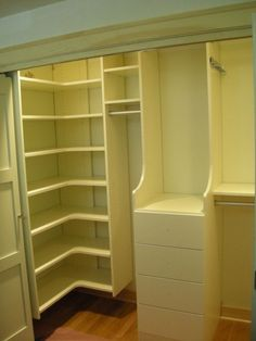 Small Closet Shelves Ideas | Ivory Small Walk-in Closet | California Closets