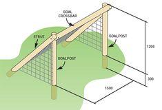 Build a backyard soccer goal with wood