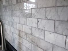 Carrara Subway Tiles - Home Depot $6.86/square foot`` WHAT? who knew?