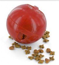 SlimCat Cat Toy Food Ball Treat Dispenser BALL - Orange