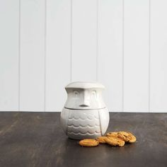 Ceramic Owl Biscuit Barrel - Graham & Green