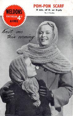 PDF File Vintage Ladies/Childs Scarf & Ladies by NostalgiaPatterns, £1.49