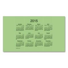 2015 Pocket Calendar by Janz Business Card