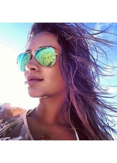 Metal frame aviator sunglasses inspired by Shay Mitchell. Mirrored Aviator Sunglasses, Ray Ban Sunglasses Sale, Mirrored Aviators, Sunglasses Women, Sunglasses Outlet, Sunglasses 2016, Celebrity Sunglasses, Cheap Sunglasses, Sunglasses Online