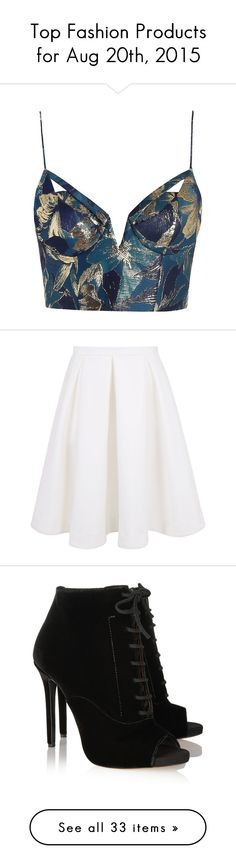 """Top Fashion Products for Aug 20th, 2015"" by polyvore ❤ liked on Polyvore featuring tops, crop tops, shirts, bralets, cutout crop top, white crop shirt, strappy crop top, bralet crop top, bralette tops e skirts"