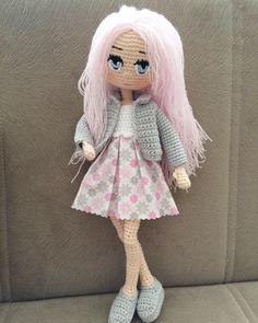 Crochet Doll Clothes, Knitted Dolls, Crochet Dolls, Knit Crochet, Crochet Doll Pattern, Crochet Patterns, Homemade Toys, Doll Tutorial, Amigurumi Doll