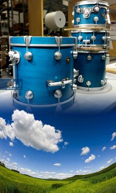 Azure with Satin Chrome Hardware. #dwdrums #thedrummerschoice