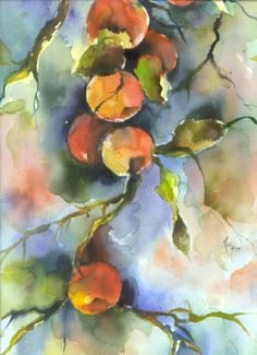 Apples Painting by Robin Miller-Bookhout - Apples Fine Art Prints and Posters for Sale