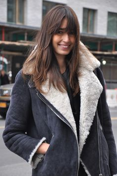The Acne shearling coat... add thumbholes and this is the Bane coat I've been longing for...