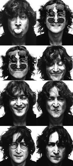 Photos of John Lennon by Bob Gruen. August 1974.