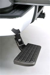 Flip it down and kick it up! The Amp Bed Step for Chevy Silverado just made getting in and out of your truck bed easier and safer! Chevrolet Silverado 1500, Chevy Chevrolet, Chevy Trucks, Pickup Trucks, Lifted Trucks, Pickup Camper, Jeep Pickup, Lifted Chevy, Camper Van