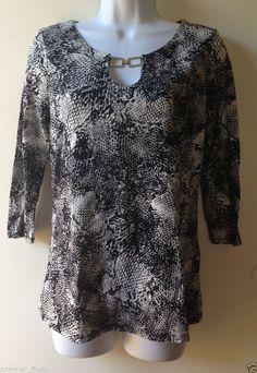 Dana Buchman Animal Snake Print Women's Shirt Size XS #DanaBuchman #Blouse #Casual
