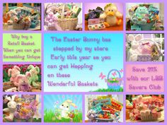 Stop by my store and see our great Easter line: http://forever.labellabaskets.com/  *Message me and find out how you can SAVE 20% Off your entire purchase!!!  Thank you all for all of your support! May you all be blessed today and everyday! Much love for you all!