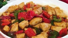 Ken Hom's curried chicken with peppers