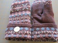 DIY sweater mitten tutorial