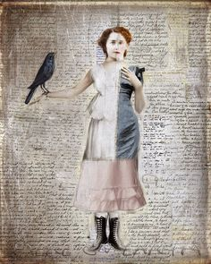 here on earth: July 2014 : Beth Conklin - We are all damaged, but because of her, i am beautifully sewn (Christopher Pointdexter) Paper Collage Art, Collage Art Mixed Media, Paper Art, Collages, Maurice Careme, Encaustic Painting, Assemblage Art, Digital Collage, Digital Art