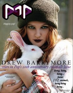 Drew Barrymore POP Magazine Winter Love the adorable bunny and her dark lips. via Harriet Mantle Drew Barrymore, Woodworking Projects Plans, Teds Woodworking, Best Airbrush Makeup, Pop Magazine, Magazine Covers, Media Magazine, Magazine Rack, The Wedding Singer