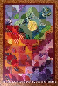 Drunkard's Path Quilt by Beate in Panama