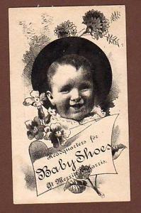 PONTIAC-MICHIGAN-MERRITT-amp-HARRIS-BABY-SHOE-HEADQUARTERS-VICTORIAN-TRADE-CARD Pontiac MI