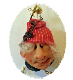 10% discount promo code  THANKYOU2015 for two or more ornaments. Handcrafted Christmas Ornaments Santa Elf Helpers  BH10