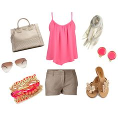 Minus the flat sandals, I'd go with strappy wedges :)