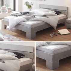 Das Bett Nuo – für ein exklusiven Industrie-Look Bench, Storage, Table, Furniture, Home Decor, Contemporary Design, Purse Storage, Decoration Home, Room Decor
