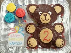 Teddy bear pull apart cake