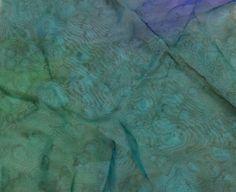 "Hand Dyed Teal Green - Silk Chiffon (11""x12"")"