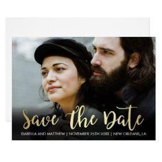 #Gold Gradient Script | Personal Photography Card - #weddinginvitations #wedding #invitations #party #card #cards #invitation #photo