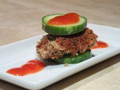 Voedselzandloperburger, komkommers op een andere wijze - Proeven op zondag