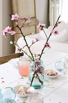 Flowers and Ball jars