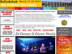 Ballydehob Traditional Music Festival. Co Cork March 27th - 29th 2015  http://www.ballydehobtradfestival.com/
