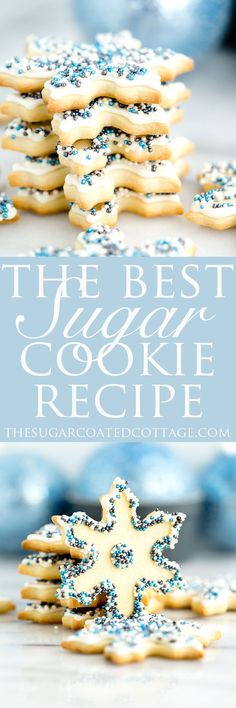 The Best Sugar Cookie Recipe. Perfect for cut out cookies this. The Best Sugar Cookie Recipe. Perfect for cut out cookies this dough does not require refrigeration before rolling out or before baking. And the dough doesnt spread when baking either! Best Sugar Cookie Recipe, Cookie Dough Recipes, Best Sugar Cookies, Easy Cookie Recipes, Dessert Recipes, Xmas Recipes, Xmas Desserts, Baking Desserts, Yummy Recipes