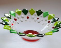 Christmas flower bowl by YafitGlass