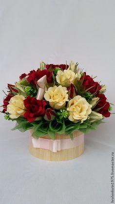 Easy Crafts For Teens, Christmas Crafts For Kids, Flower Bouquet Diy, Diy Flowers, Flower Box Gift, Flower Boxes, Flower Arrangement Designs, Floral Arrangements, Happy Birthday Bouquet