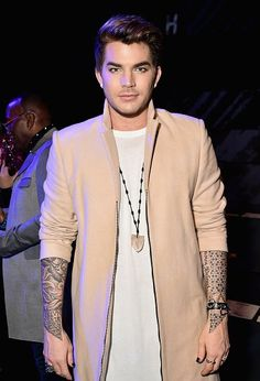 02/14/17 Adam Lambert at The Blonds Fashion Show